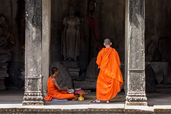 Angkor Wat, Angkor Wat Archaeological Site, Cambodia, Siem Reap, South-East Asia.