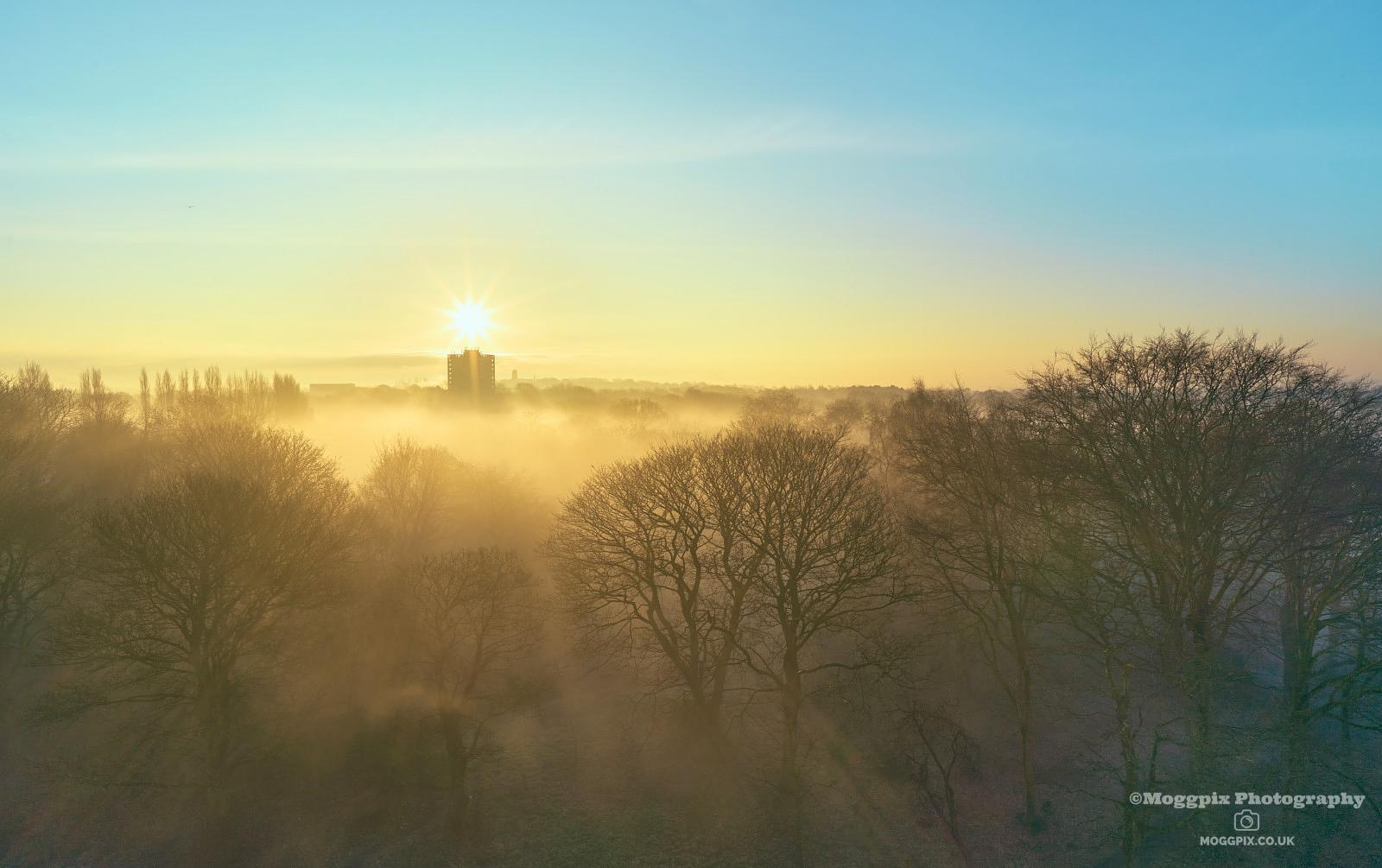 Misty Sunsrise over Sefton Park