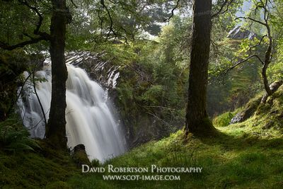 Prints & Stock Image - Waterfall on the Allt Bail a Mhuillinn, in Glen Lyon, Perth and Kinross, Scotland