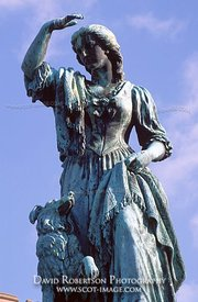 Image - Statue of Flora MacDonald, Inverness, Scotland.