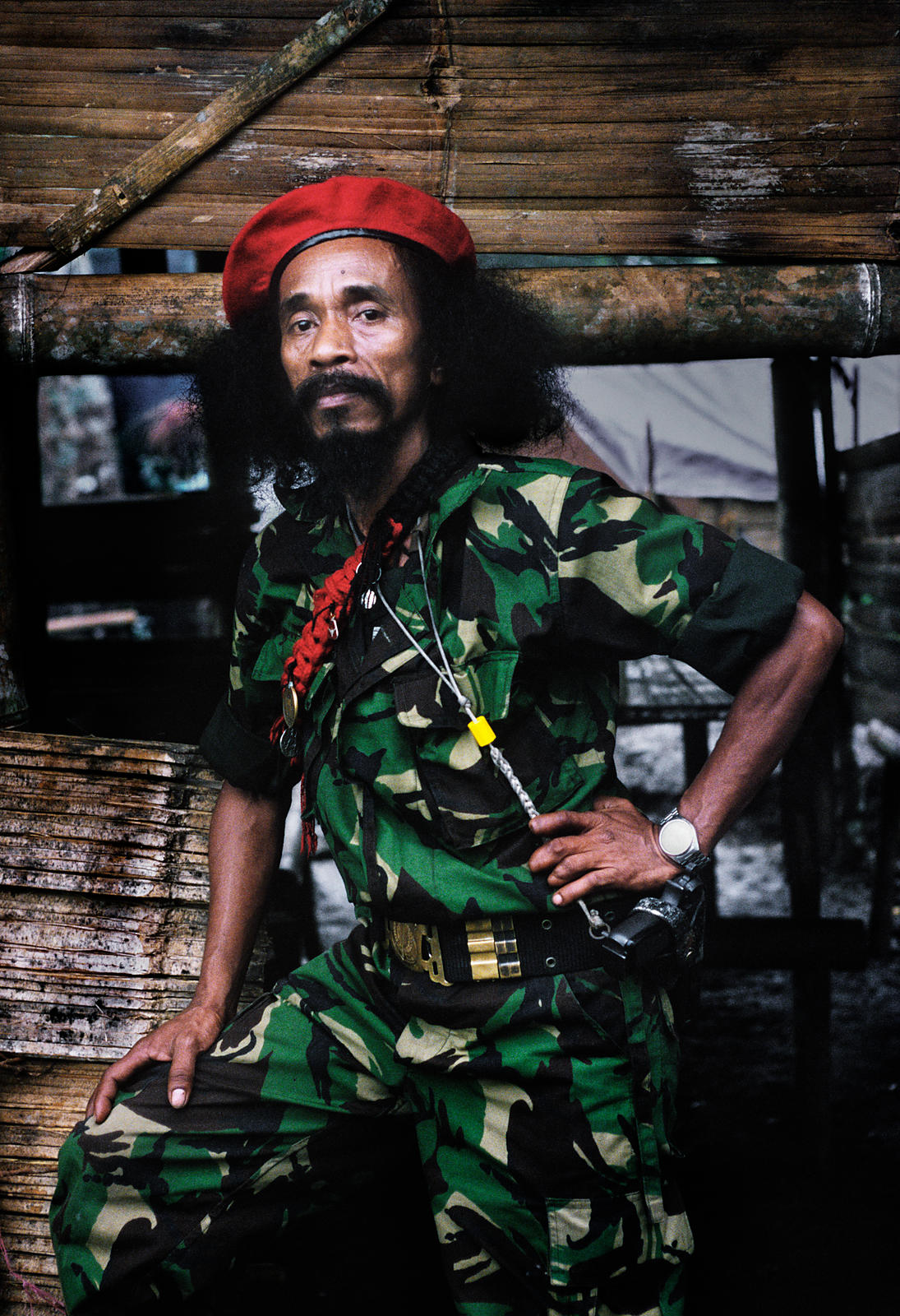 Falintil Commander, Cornelio Gama, East Timor, March 1999.
