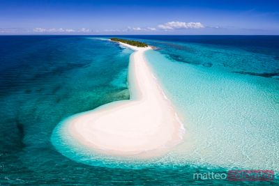 Sandbar and tropical island, Philippines