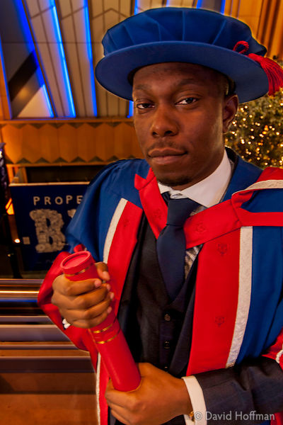 131121 UEL Hon Doc 051a Awards of Honorary Doctorates to David Hoffman and Dizzee Rascal by the University of East London at ...