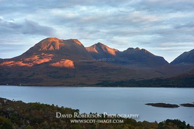Image - Beinn Alligin across Upper Loch Torridon, Torridon, Wester Ross, Highland, Scotland