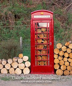 Image - Telephone box and logs