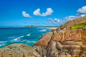 Ocean coast  - Europe, Ireland, Donegal, The Rosses, Inishfree Bay, Carrickfinn Beach - digital