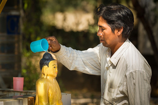 Water Ritual in Gubyaukgyi Temple
