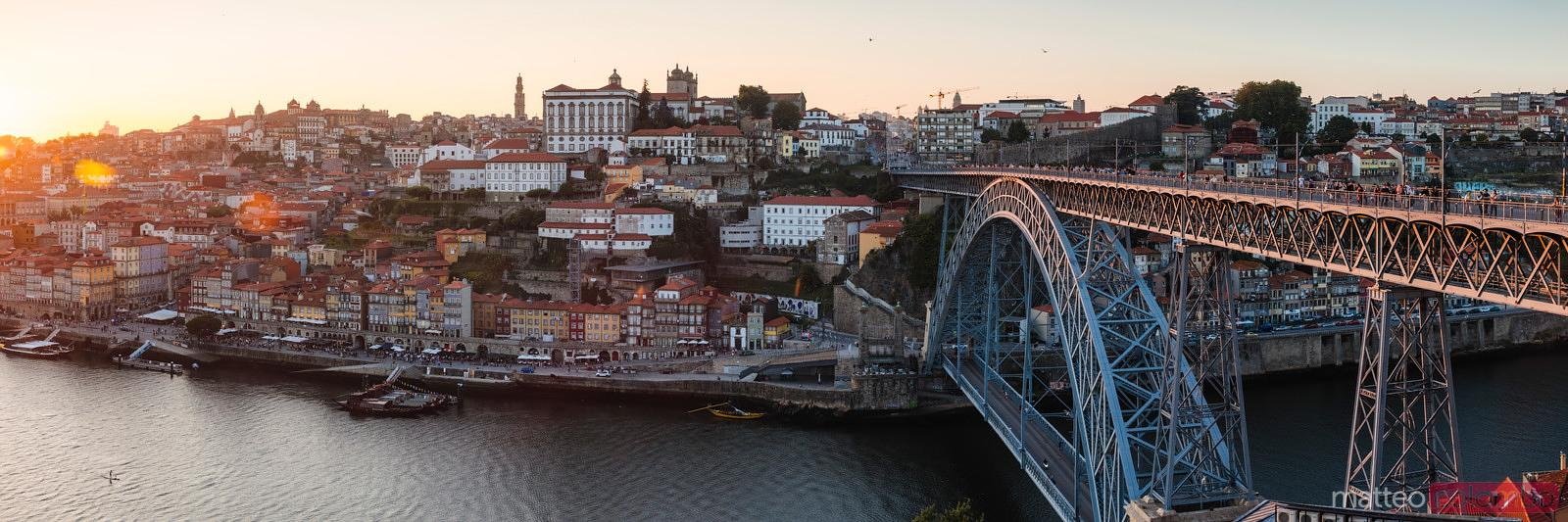Luis I bridge and Ribeira panorama, Porto, Portugal