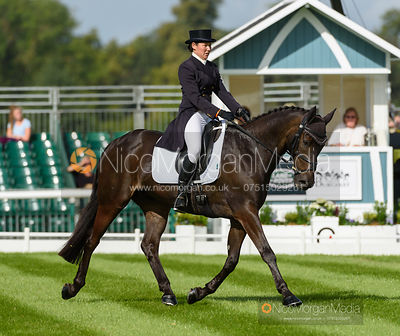 Kerry Varley and BLUESTONE LUKE - dressage - Land Rover Burghley Horse Trials 2016