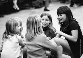 #74636,  Anna Scher Children's Theatre, Bentham Court Hall, Islington, North London 1972.  Kids would come after school and b...