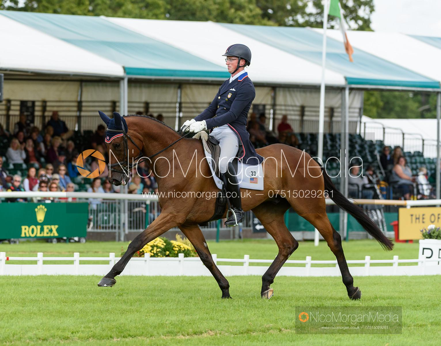 Doug Payne and VANDIVER - Dressage - Land Rover Burghley Horse Trials 2019