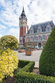 CALAIS, FRANCE - SEPTEMBER 26 : City hall of Calais, October 26, 2015.