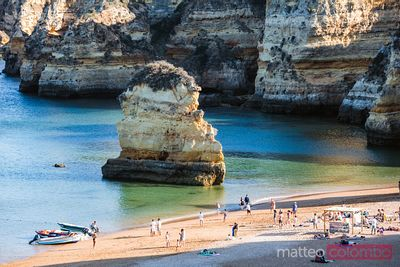 Rock formation near the beach, Lagos, Algarve, Portugal