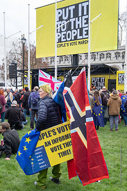 #124560,  Anti-Brexit march to Parliament Square, London, 23rd March 2019.  A million people of all ages marched demanding a ...