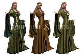 Fantasy or Medieval Woman in Gown