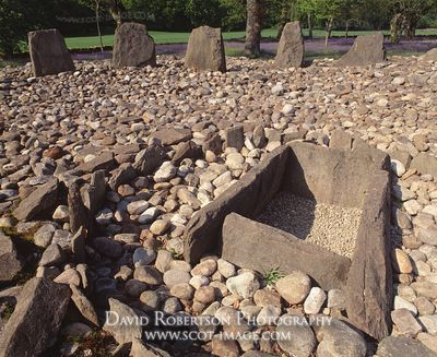 Image - Burial kist in a stone circle, Kilmartin Glen, Scotland