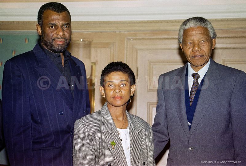 England, UK. 6.5.1993. London . Neville and Doreen Lawrence, parents of teenager Stephen Lawrence murdered by racists, meet N...