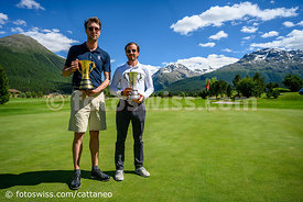 Samedan: 50. St. Moritz Gold Cup 04.07.2020 bis 05.07.2020.Brutto - Gold Cup.1 Huth, Max-Fabian Engadine Golf Club 71(links)....