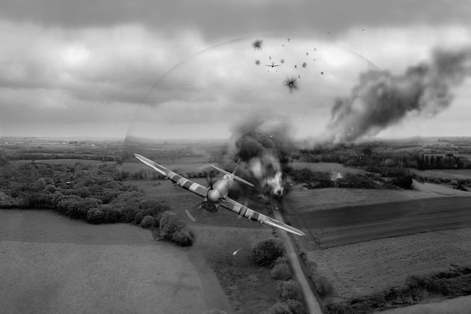 Normandy Typhoon shockwave B&W version