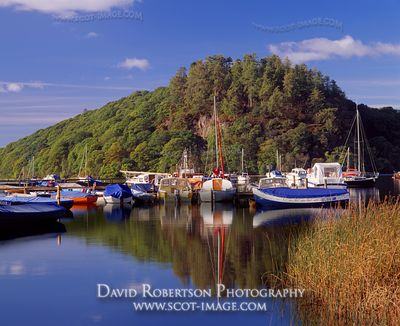 Image - Loch Lomond at Balmaha boatyard, Inchcailloch behind