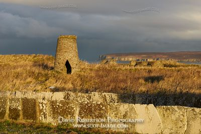 Image - Old windmill on the Flagstone Heritage Trail, Castlehill, Castletown, Caithness, Scotland