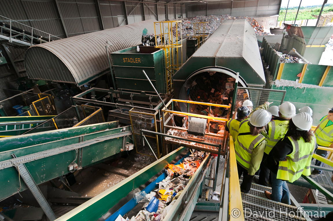 The Viridor Materials Recovery Facility (MRF), Crayford, Kent.