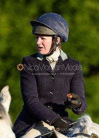 Rachel Finnegan at the meet. The Quorn Hunt at Fox Covert Farm 10/1