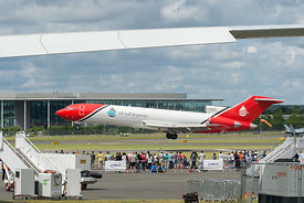 #121010,  Boeing 727 of Oil Spill Response, Farnborough Air Show, 2016.  The aircraft has been adapted to spread dispersing c...