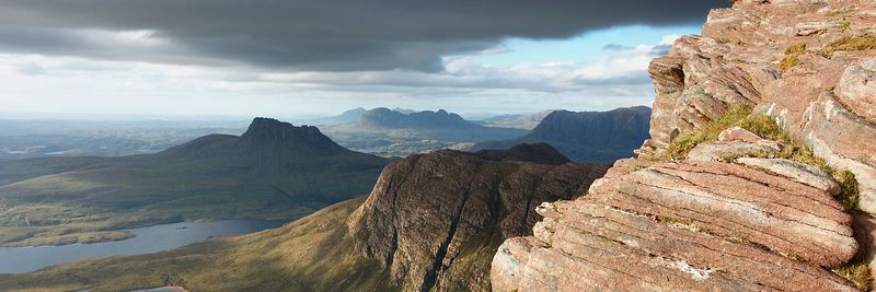 Image - Stac Pollaidh and Suilven from Sgurr an Fhidhleir, Scotland