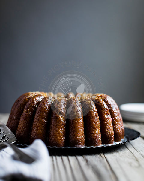 Maple walnut bundt cake.