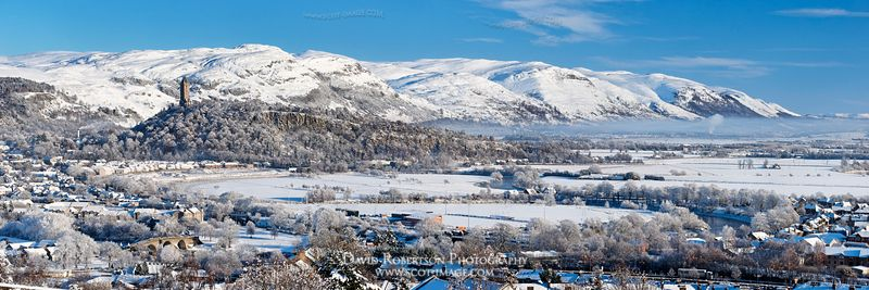Image - Stirling cityscape in winter, panoramic