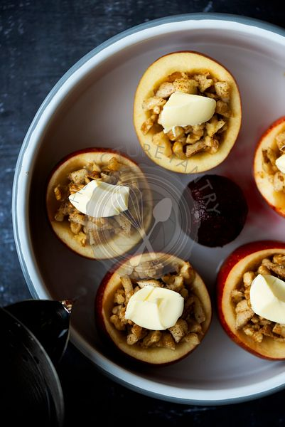 Walnut Stuffed Apples