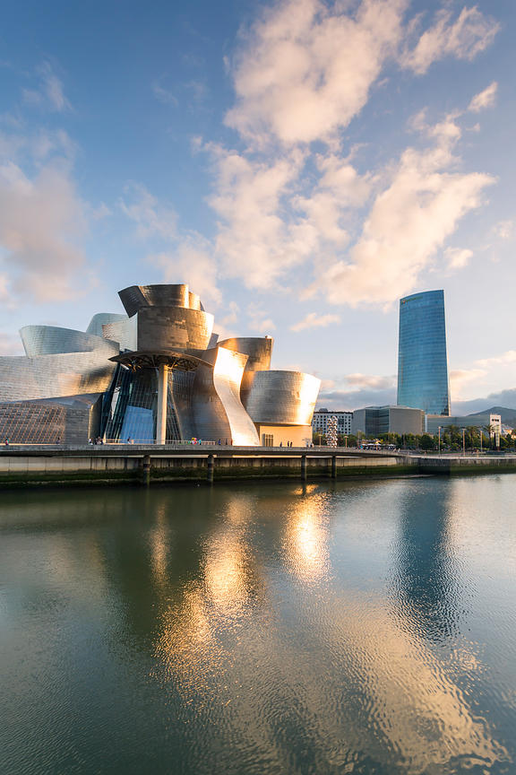Golden Light in Bilbao