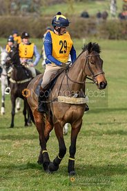 William Fox-Grant before the start. The Melton Hunt Club Ride 17/2