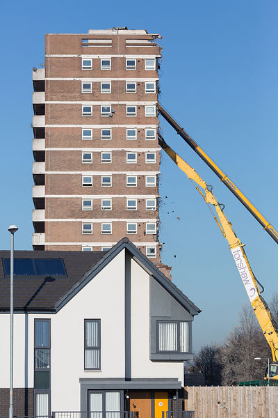 Gorton flat demolition