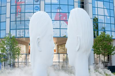 Leeuwarden, 'Love' sculpture from 11 Fountains project, Netherlands