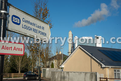 Thursday 14th November 2019. Lanesborough, County Longford. The ESB Lough Ree peat burning plant. ESB management will close t...