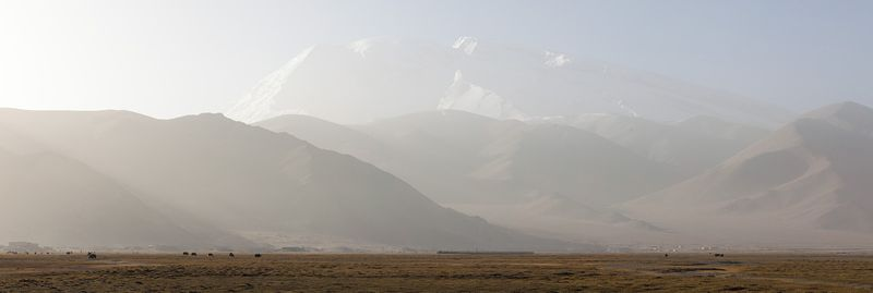 Pamir mountains panorama, Xinjiang