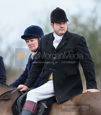 Mark Ferguson at the meet. The Belvoir Hunt at Long Clawson 21/1