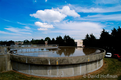 Waste water treatment works at Canterbury, Kent run by Southern Water plc.