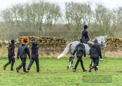 Lady Alice Manners. The Belvoir Hunt at Goadby Marwood 11/1