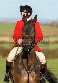 Marcus Thorpe-Codman arriving at the meet. The Tynedale hounds visit the Belvoir Hunt at Sheepwash 12/2