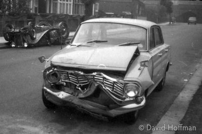 Crashed Car South London 1960s