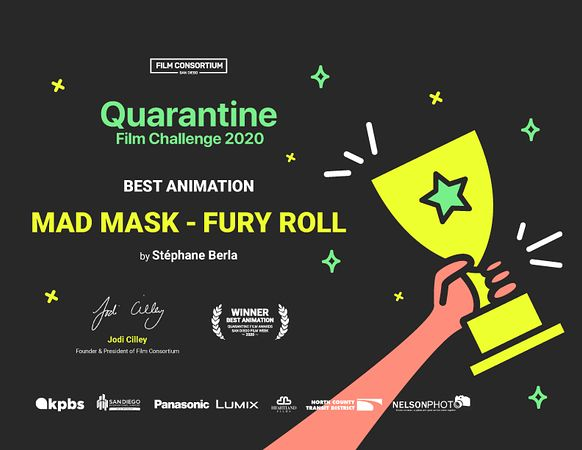 Prix du Meilleur film d'animation au Quarantine Film Awards - San Diego Film Week 2020