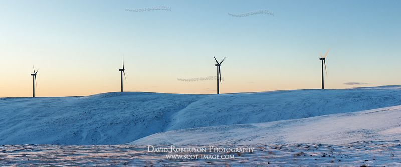Image - Panorama, Green Knowes windfarm in the Ochil Hills, Perthshire, Scotland