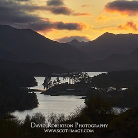 Image - Sunset over Loch Affric, Glen Affric, Inverness, Highland, Scotland.