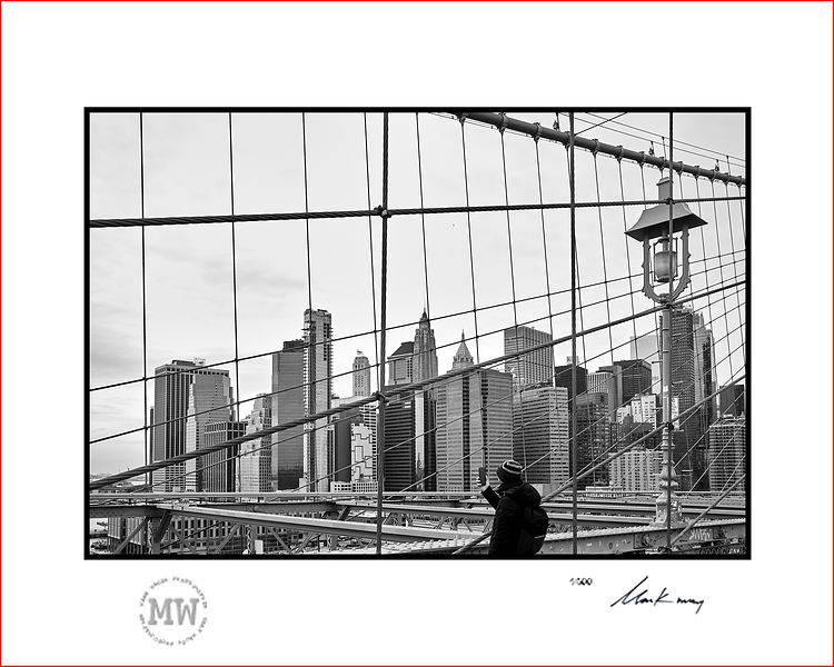 Limited edition wall print Brooklyn Bridge view