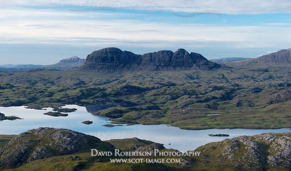 Image - Suilven and Loch Scionascaig, viewed from Stac Pollaidh