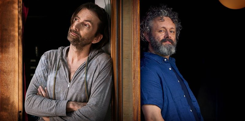 "Michael Sheen and David Tennant in ""Staged"""