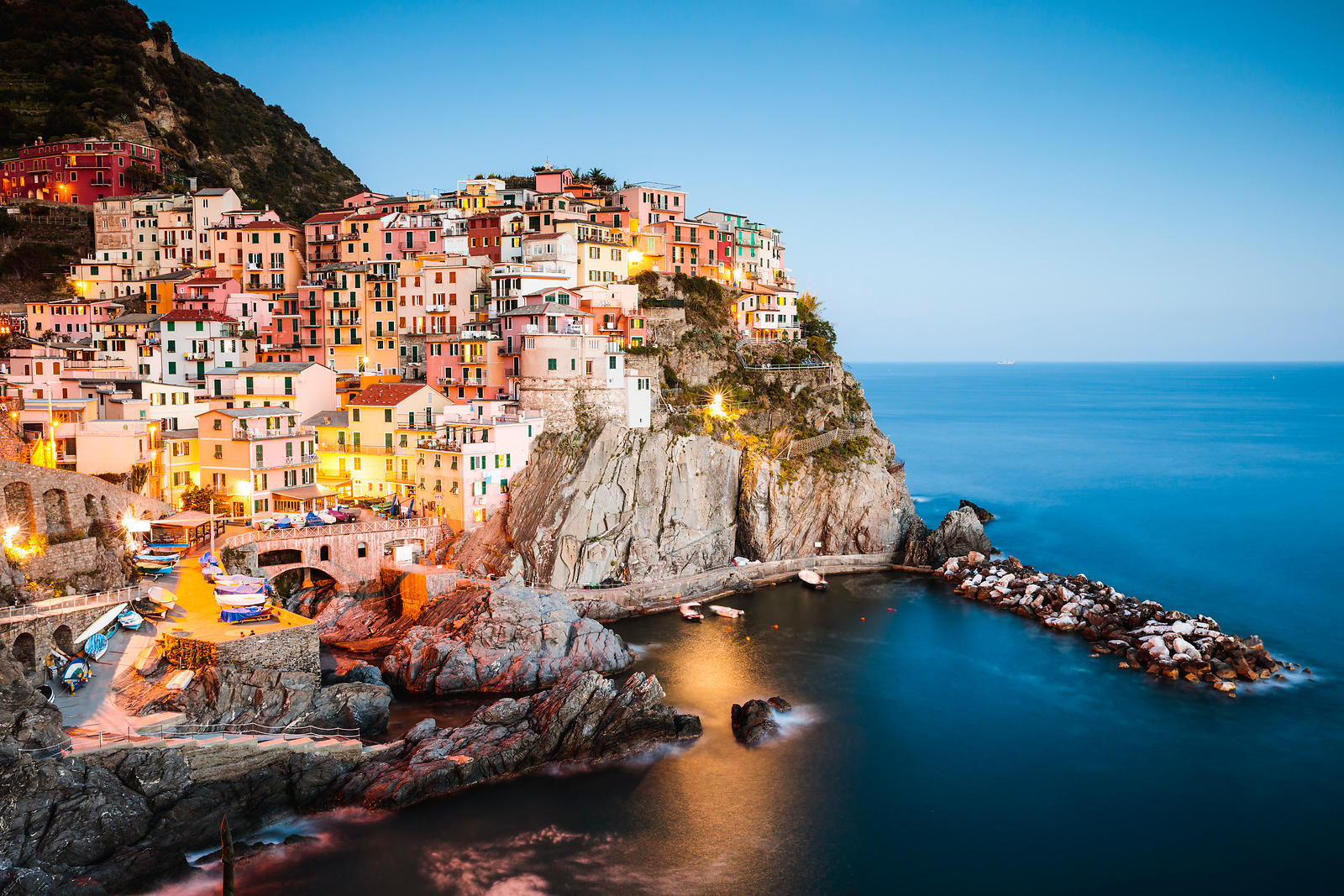 Blue hour in Manarola